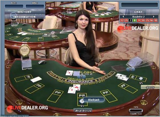Gold table live blackjack