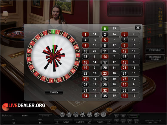 VIP roulette history stats