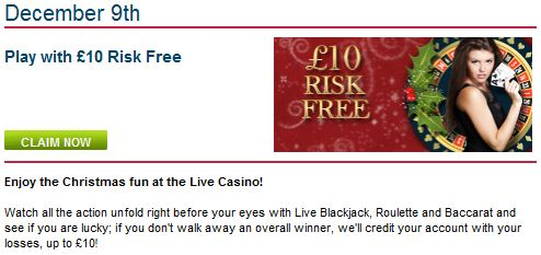 William Hill live casino advent