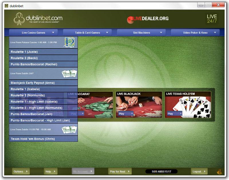 Dublinbet's multiple casino streams