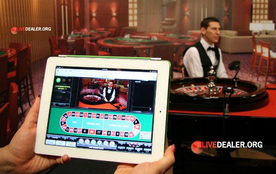 iPad live roulette
