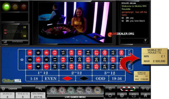 High roller roulette limits