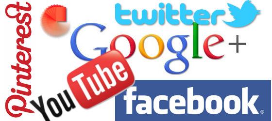 Social media page links