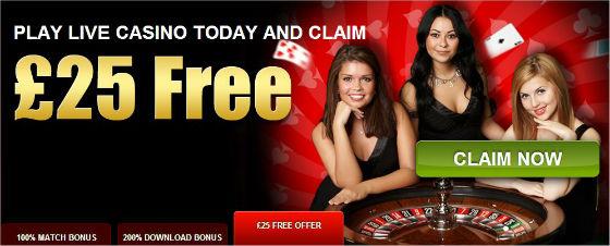 Ladbrokes current £25 live casino offer