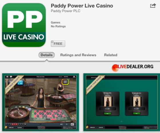 paddy power live casino app android
