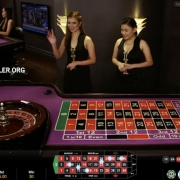Playtech diamond roulette (french) table