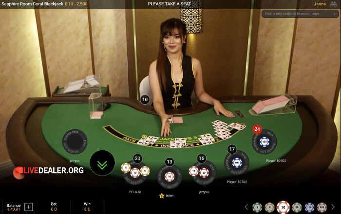 Sapphire Room Blackjack