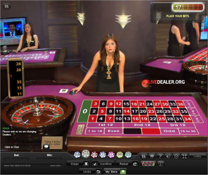 Live dealer roulette asia piscine st galmier casino