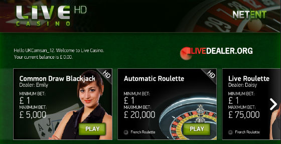 roulette and blackjack at Casino Royale