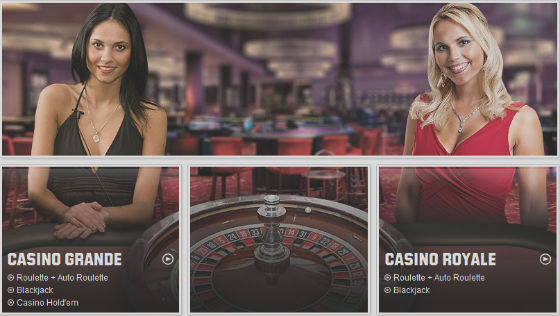unibet live casino lobby