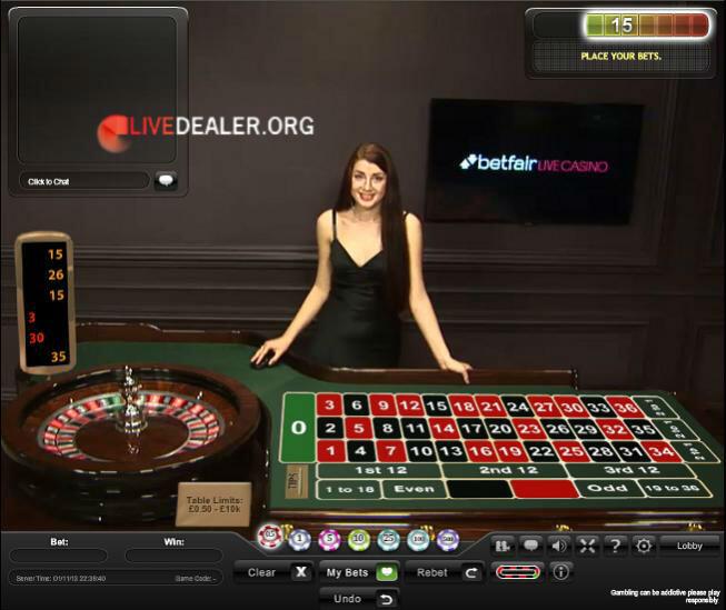 roulette live betfair