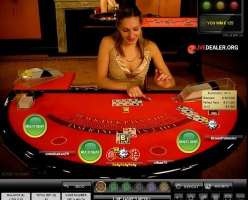 live blackjack sidebets