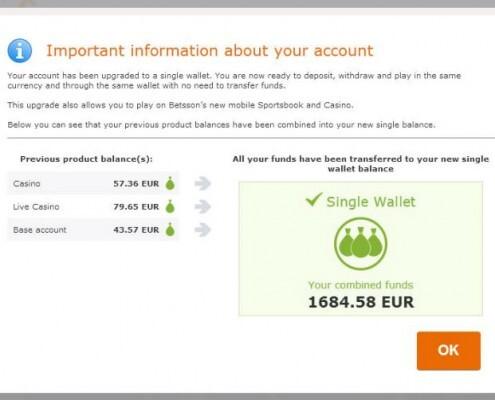 Betsson single wallet