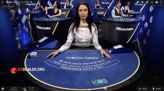 William Hill private live blackjack