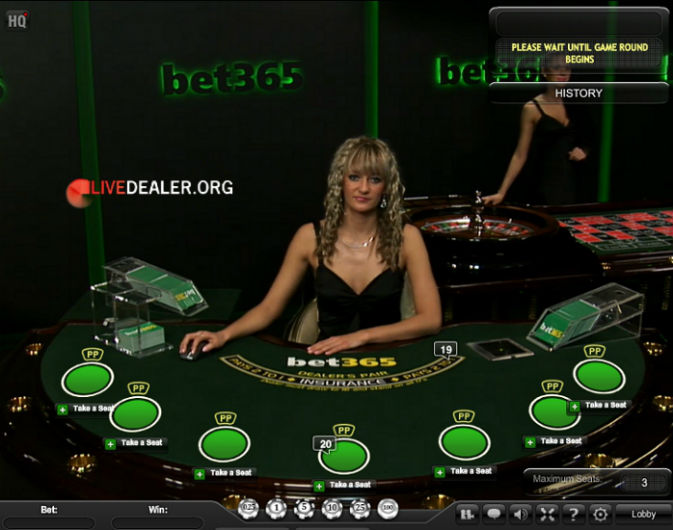 bet365 private new live blackjack table