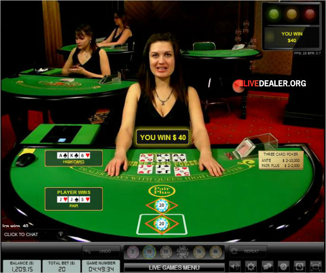 Playing Live 3 Card Poker