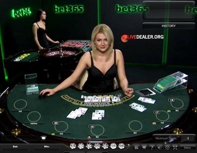 bet365 private live blackjack table