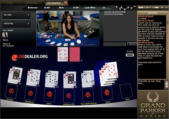 Grand Parker live blackjack