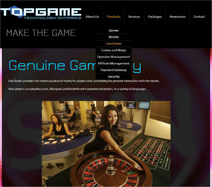 TopGame live dealers