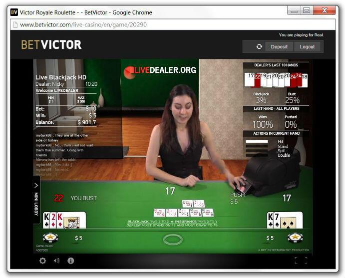 victor royale blackjack