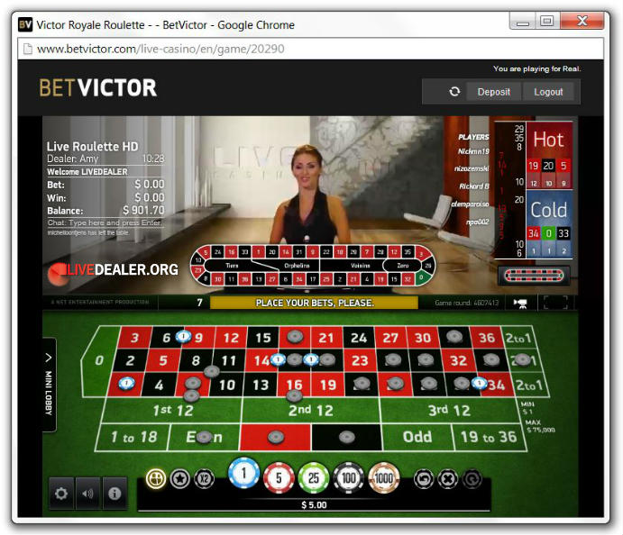 victor royale roulette