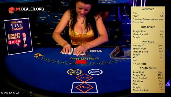 William hill 3 card poker online vs live poker 2016