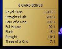 Three Card Poker 6 Card Bonus Livedealer Org