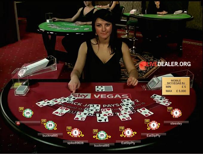 Sky Vegas table at Evolution