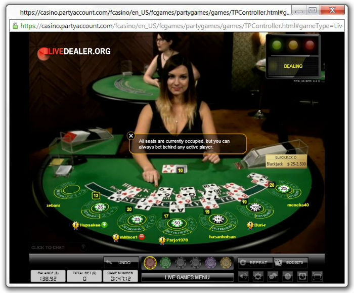 Top roulette system