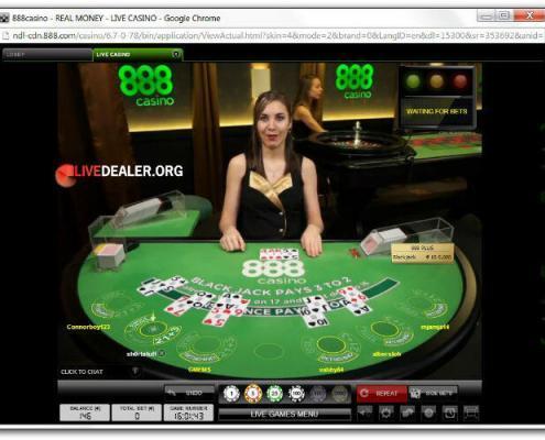 live blackjack at 888
