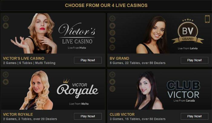 Victor's Live Casino