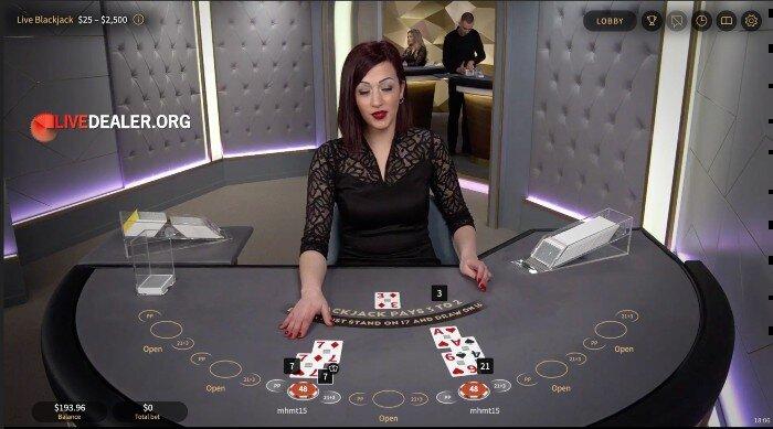 NetEnt Live (Silver) Blackjack