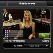 Playtech VIP live baccarat