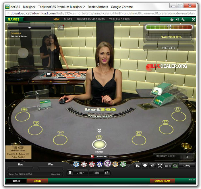 new bet365 live blackjack
