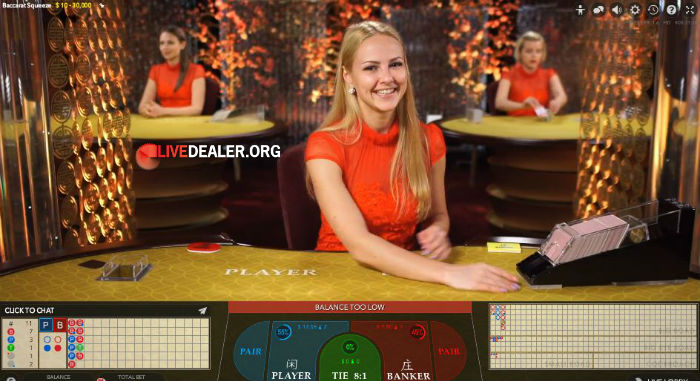 32Red live baccarat squeeze