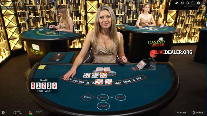 Evolution's new Texas Hold'em Poker