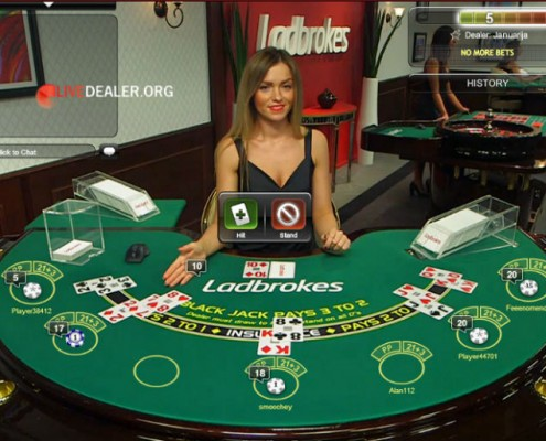 Ladbrokes low limit live blackjack