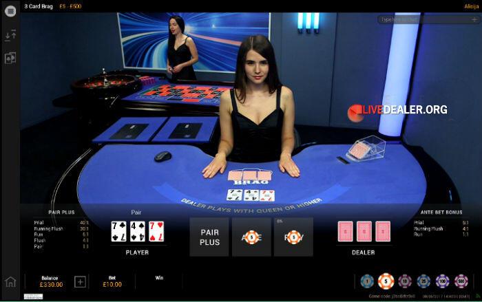 Playtech's new 3 Card Brag