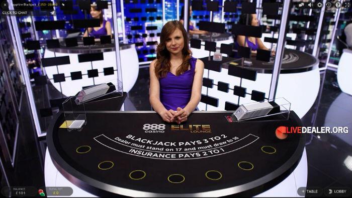 888 EliteLounge blackjack