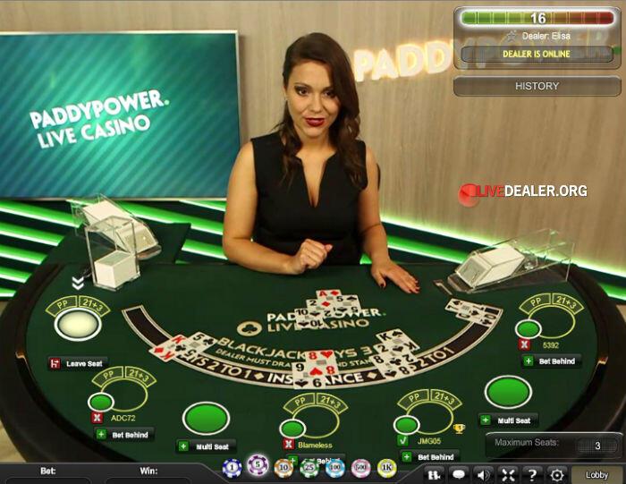 live blackjack @ paddy power