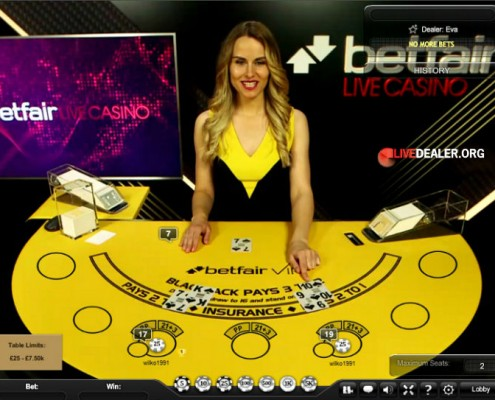 VIP live blackjack @ Betfair