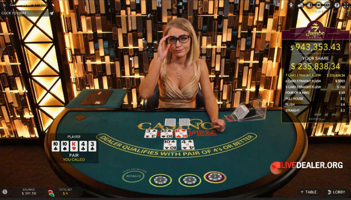 Evolution Casino Holdem Poker