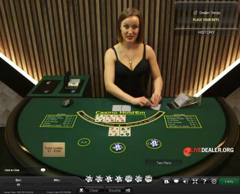 Playtech Live Casino Hold'em Poker
