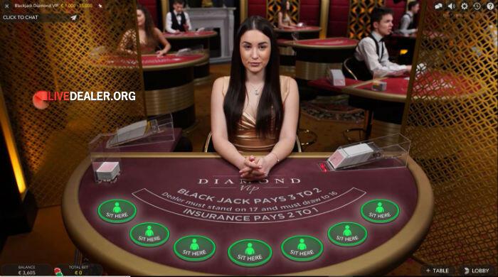 Diamond VIP live blackjack