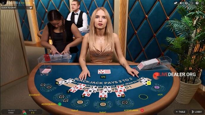 blackjack table Silver 2