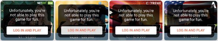 no free play