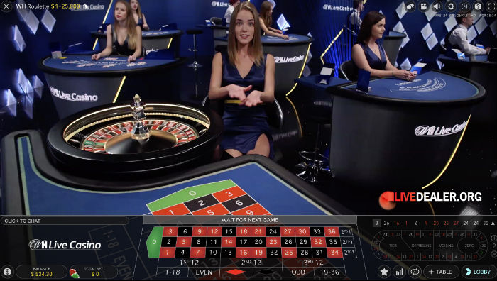 WH Roulette new live table