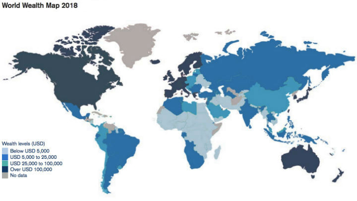 world wealth map