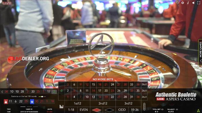 Aspers Casino Roulette