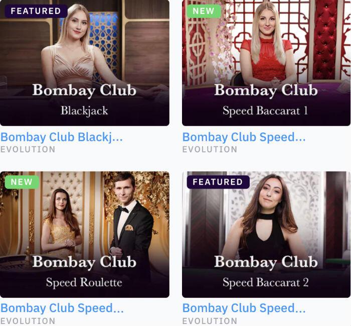 BombayClub tables